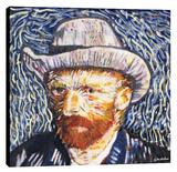 Van Gogh Portrait Stretched Canvas Print by Steve Kaufman