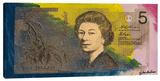 Australian Five Dollar Bill w/ Queen Elizabeth II Stretched Canvas Print by Steve Kaufman