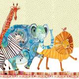 Safari Parade Kunstdruck von Robbin Rawlings