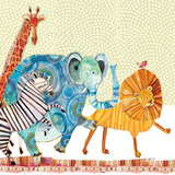 Safari Parade Print by Robbin Rawlings