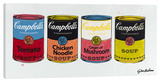 Four Campbell's Soup Cans 1 Stretched Canvas Print by Steve Kaufman