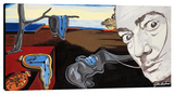 Homage To Dali's Melting Clocks Stretched Canvas Print by Steve Kaufman