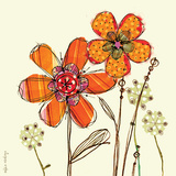 Flower Friends Print by Robbin Rawlings