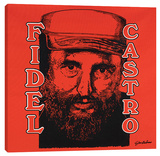 Fidel Castro Stretched Canvas Print by Steve Kaufman