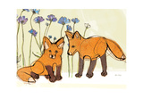 Fox Kits Posters by Robbin Rawlings