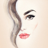 Woman Portrait .Abstract Watercolor .Fashion Background Photographic Print by Anna Ismagilova