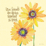 Daisy Stripes - True Friends Prints by Robbin Rawlings
