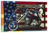 Easy Rider Stretched Canvas Print by Steve Kaufman