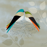Birds Life - Love Nest Prints by Dominique Vari