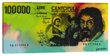 Italian Lire A Stretched Canvas Print by Steve Kaufman