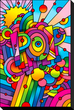 Pop 1 Stretched Canvas Print by Howie Green