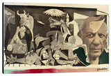 Homage To Picasso Guernica Stretched Canvas Print by Steve Kaufman