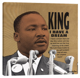 Martin Luther King, The Dream Stretched Canvas Print by Steve Kaufman