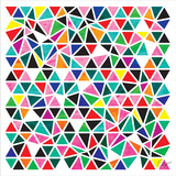 Triangles - Multicolor Print by Dominique Vari