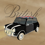 Best of British Black Mini Posters av Dominique Vari