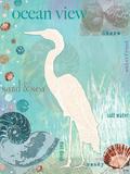 Heron Beach Prints by Bee Sturgis