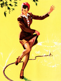 What a Break Pin-Up 1944 Premium Giclee Print by Gil Elvgren
