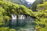 China 10MKm2 Collection - Waterfalls in the Jiuzhaigou National Park Metal Print by Philippe Hugonnard