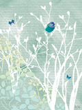 Chickadee on White Branches Prints by Bee Sturgis