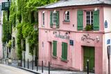 Paris Focus - La Maison Rose in Montmartre Photographic Print by Philippe Hugonnard