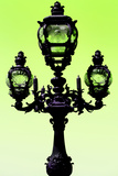 Paris Focus - Colors French Lamppost Photographic Print by Philippe Hugonnard