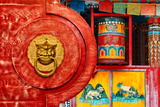 China 10MKm2 Collection - The Door God - Prayer Wheel Photographic Print by Philippe Hugonnard