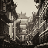 China 10MKm2 Collection - Traditional Architecture in Yuyuan Garden - Shanghai Photographic Print by Philippe Hugonnard