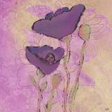 Purple Poppies Art by Bee Sturgis