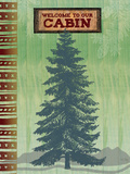 Welcome to Our Cabin Premium Giclee Print by Bee Sturgis