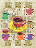 All About Coffee Prints by Bee Sturgis