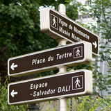 Paris Focus - Montmartre Directional Signs Photographic Print by Philippe Hugonnard