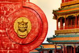 China 10MKm2 Collection - The Door God - Summer Temple Metal Print by Philippe Hugonnard