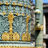 Paris Focus - Close-up on a Lamppost Photographic Print by Philippe Hugonnard
