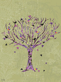 Birds in a Tree Premium Giclee Print by Bee Sturgis