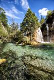 China 10MKm2 Collection - Waterfalls in the Jiuzhaigou National Park Fotografie-Druck von Philippe Hugonnard
