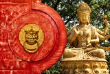 China 10MKm2 Collection - The Door God - Buddha Fotografie-Druck von Philippe Hugonnard