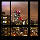 View from the Window - Manhattan Skyline by Night Photographic Print by Philippe Hugonnard