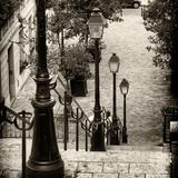 Paris Focus - Stairs of Montmartre Fotodruck von Philippe Hugonnard
