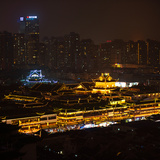 China 10MKm2 Collection - Yuyuan Gardens at night - Shanghai Photographic Print by Philippe Hugonnard