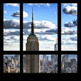 View from the Window - Empire State Building and One World Trade Center Photographic Print by Philippe Hugonnard