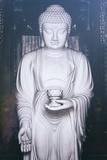 China 10MKm2 Collection - White Buddha Metal Print by Philippe Hugonnard