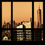 View from the Window - New York Orange Photographic Print by Philippe Hugonnard