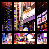 View from the Window - Times Square Night Photographic Print by Philippe Hugonnard