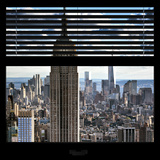 View from the Window - Empire State Building and One World Trade Center Reproduction photographique par Philippe Hugonnard