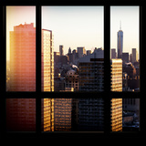 View from the Window - Manhattan Buildings at Sunset Photographic Print by Philippe Hugonnard
