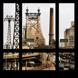 View from the Window - Queensboro Bridge Traffic Photographic Print by Philippe Hugonnard