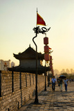 China 10MKm2 Collection - Walk on the City Walls at sunset - Xi'an City Photographic Print by Philippe Hugonnard