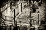 Paris Focus - Stairs of Montmartre Fotodruck von Philippe Hugonnard