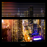 View from the Window - Midtown Manhattan Night Photographic Print by Philippe Hugonnard