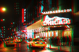After Twitch NYC - Broadway Taxis Photographic Print by Philippe Hugonnard